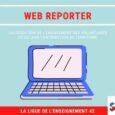 Le Web Reporter est un volontaire en service civique un peu particulier. Son rôle principal est de valoriser l'engagement des volontaires au sein de la ligue de l'enseignement de la […]